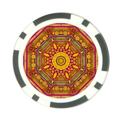 Sunshine Mandala And Other Golden Planets Poker Chip Card Guard (10 Pack) by pepitasart