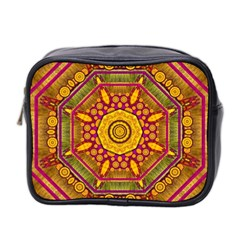 Sunshine Mandala And Other Golden Planets Mini Toiletries Bag 2 Side by pepitasart