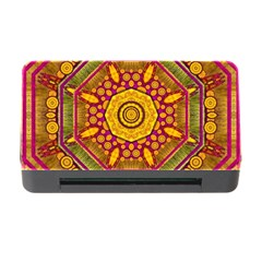 Sunshine Mandala And Other Golden Planets Memory Card Reader With Cf by pepitasart