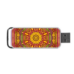 Sunshine Mandala And Other Golden Planets Portable Usb Flash (two Sides)