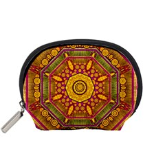 Sunshine Mandala And Other Golden Planets Accessory Pouches (small)  by pepitasart