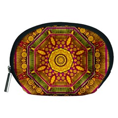 Sunshine Mandala And Other Golden Planets Accessory Pouches (medium)  by pepitasart