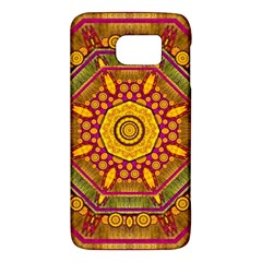 Sunshine Mandala And Other Golden Planets Galaxy S6 by pepitasart