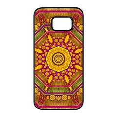 Sunshine Mandala And Other Golden Planets Samsung Galaxy S7 Edge Black Seamless Case