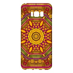 Sunshine Mandala And Other Golden Planets Samsung Galaxy S8 Plus Hardshell Case  by pepitasart