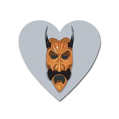 Mask India South Culture Heart Magnet by Celenk