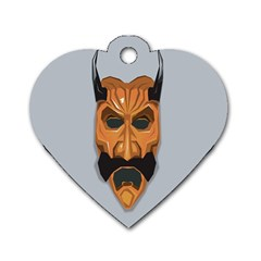 Mask India South Culture Dog Tag Heart (one Side) by Celenk