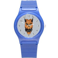 Mask India South Culture Round Plastic Sport Watch (s)
