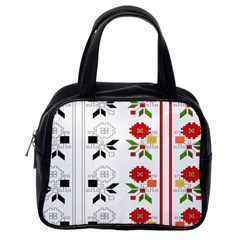 Bulgarian Folk Art Folk Art Classic Handbags (one Side) by Celenk