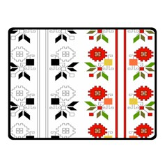 Bulgarian Folk Art Folk Art Double Sided Fleece Blanket (small)  by Celenk