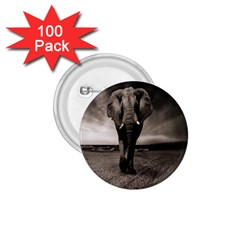 Elephant Black And White Animal 1 75  Buttons (100 Pack)  by Celenk