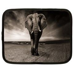 Elephant Black And White Animal Netbook Case (xxl)  by Celenk