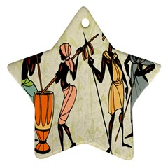 Man Ethic African People Collage Ornament (star)