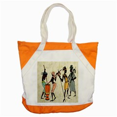 Man Ethic African People Collage Accent Tote Bag by Celenk