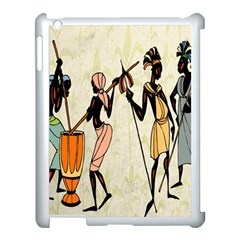 Man Ethic African People Collage Apple Ipad 3/4 Case (white) by Celenk