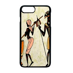 Man Ethic African People Collage Apple Iphone 7 Plus Seamless Case (black)