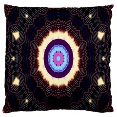 Mandala Art Design Pattern Large Cushion Case (two Sides) by Celenk