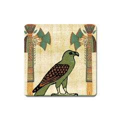 Egyptian Paper Papyrus Bird Square Magnet by Celenk