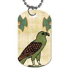 Egyptian Paper Papyrus Bird Dog Tag (two Sides) by Celenk