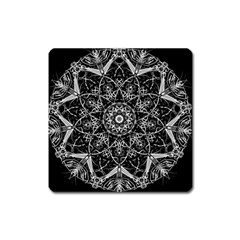 Mandala Psychedelic Neon Square Magnet