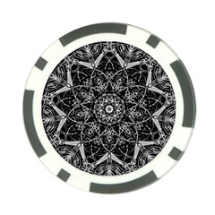 Mandala Psychedelic Neon Poker Chip Card Guard by Celenk