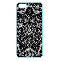 Mandala Psychedelic Neon Apple Seamless Iphone 5 Case (color) by Celenk