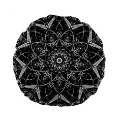 Mandala Psychedelic Neon Standard 15  Premium Round Cushions by Celenk
