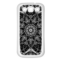 Mandala Psychedelic Neon Samsung Galaxy S3 Back Case (white) by Celenk