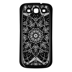 Mandala Psychedelic Neon Samsung Galaxy S3 Back Case (black) by Celenk