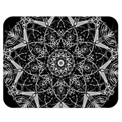 Mandala Psychedelic Neon Double Sided Flano Blanket (medium)  by Celenk