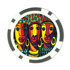 Ethnic Bold Bright Artistic Paper Poker Chip Card Guard (10 Pack) by Celenk