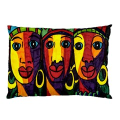 Ethnic Bold Bright Artistic Paper Pillow Case (two Sides)