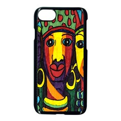 Ethnic Bold Bright Artistic Paper Apple Iphone 7 Seamless Case (black) by Celenk