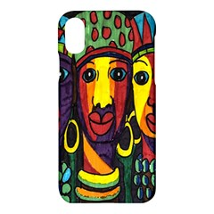 Ethnic Bold Bright Artistic Paper Apple Iphone X Hardshell Case by Celenk