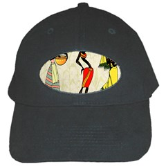 Woman Ethic African People Collage Black Cap by Celenk