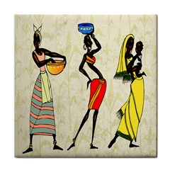 Woman Ethic African People Collage Face Towel