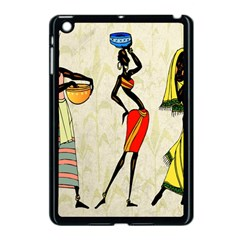 Woman Ethic African People Collage Apple Ipad Mini Case (black) by Celenk