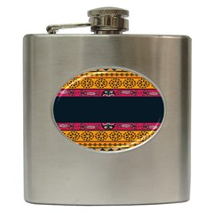Pattern Ornaments Africa Safari Hip Flask (6 Oz) by Celenk