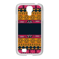 Pattern Ornaments Africa Safari Samsung Galaxy S4 I9500/ I9505 Case (white) by Celenk