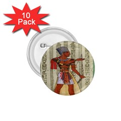 Egyptian Design Man Royal 1 75  Buttons (10 Pack)