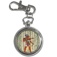 Egyptian Design Man Royal Key Chain Watches by Celenk