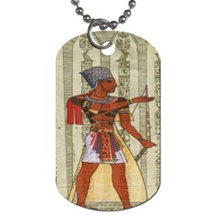 Egyptian Design Man Royal Dog Tag (one Side) by Celenk