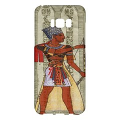 Egyptian Design Man Royal Samsung Galaxy S8 Plus Hardshell Case  by Celenk