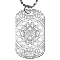Mandala Ethnic Pattern Dog Tag (two Sides)