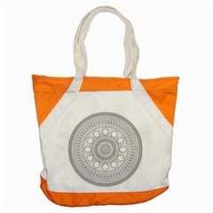 Mandala Ethnic Pattern Accent Tote Bag by Celenk