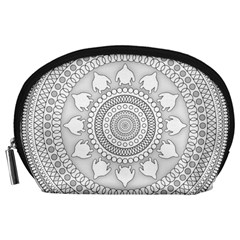Mandala Ethnic Pattern Accessory Pouches (large)  by Celenk