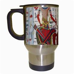 Egyptian Tutunkhamun Pharaoh Design Travel Mugs (white) by Celenk
