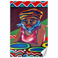 Ethnic Africa Art Work Drawing Canvas 24  X 36  by Celenk