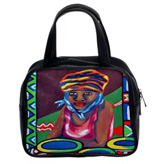 Ethnic Africa Art Work Drawing Classic Handbags (2 Sides)