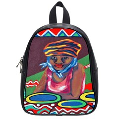 Ethnic Africa Art Work Drawing School Bag (small)